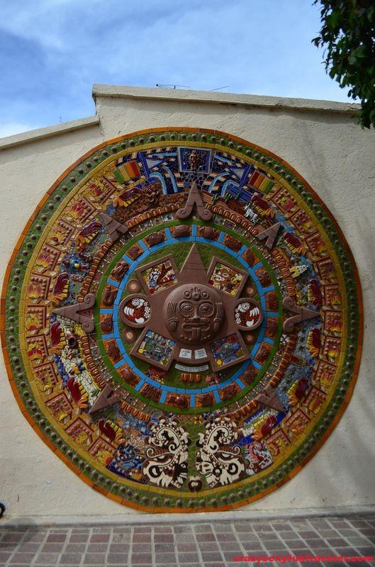 huge Piedra del sol on the wall in Todos Santos in Mexico