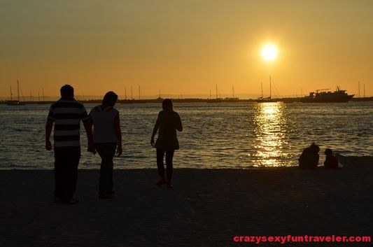 locals enjoying La Paz sunset