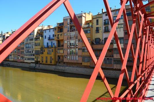 on the Eiffel bridge Girona