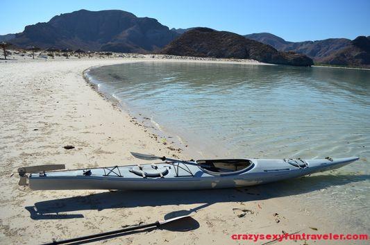 ready for kayaking Balandra beach