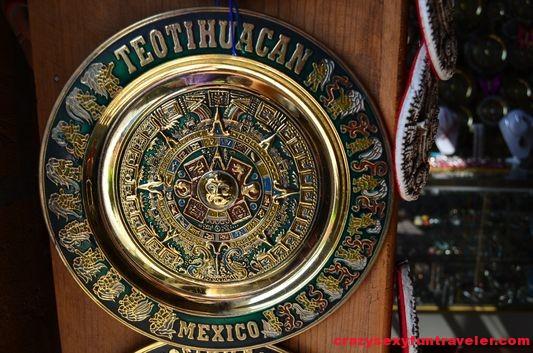 souvenir Piedra del sol from Teotihuacan Mexico