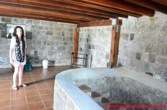 stone bathtub in Fairview Great House St. Kitts