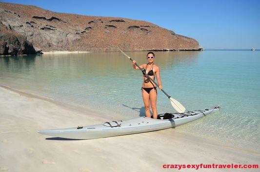 taking a break when kayaking