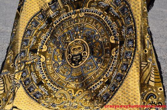 the Aztec calendar pareo close-up