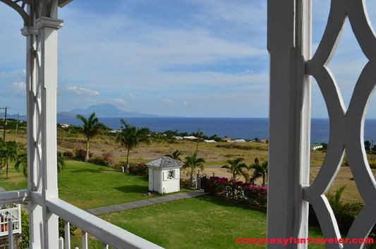 the view from Fairview Great House St. Kitts