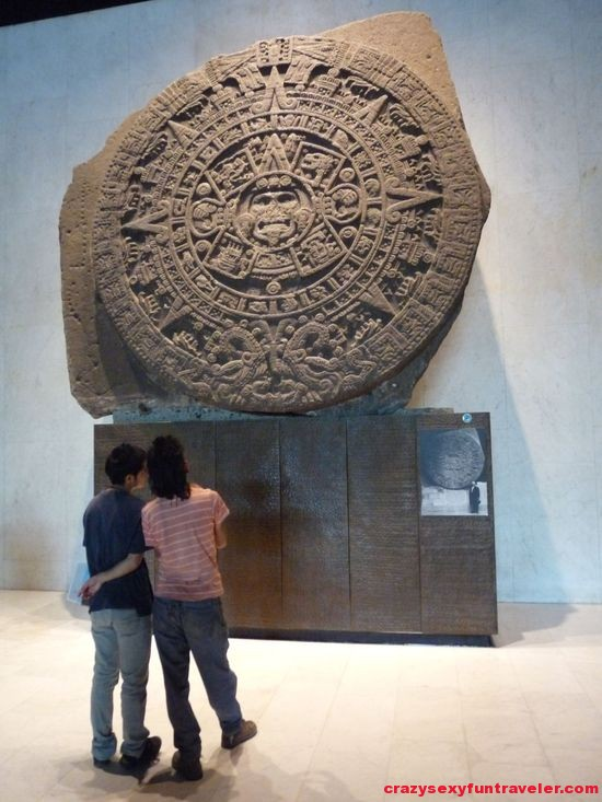 Piedra del sol in National Museum of Anthropology and History in Mexico City