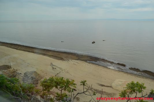 a sand beach on St. Lawrence river