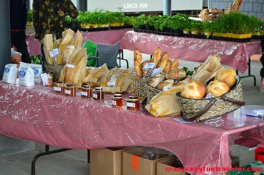 fresh bread at La Ferme local market