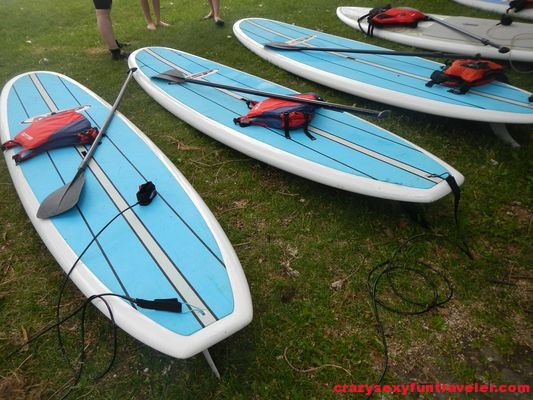 preparing for SUP yoga in Montreal