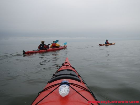 sea kayak on St. Lawrence river