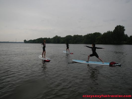 warrior 2 SUP yoga