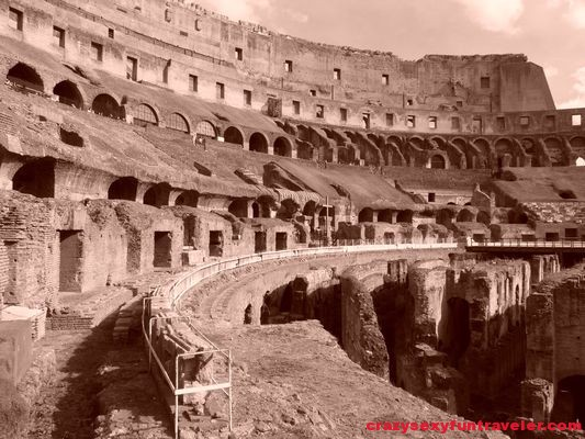 Colosseum in Rome sepia colour