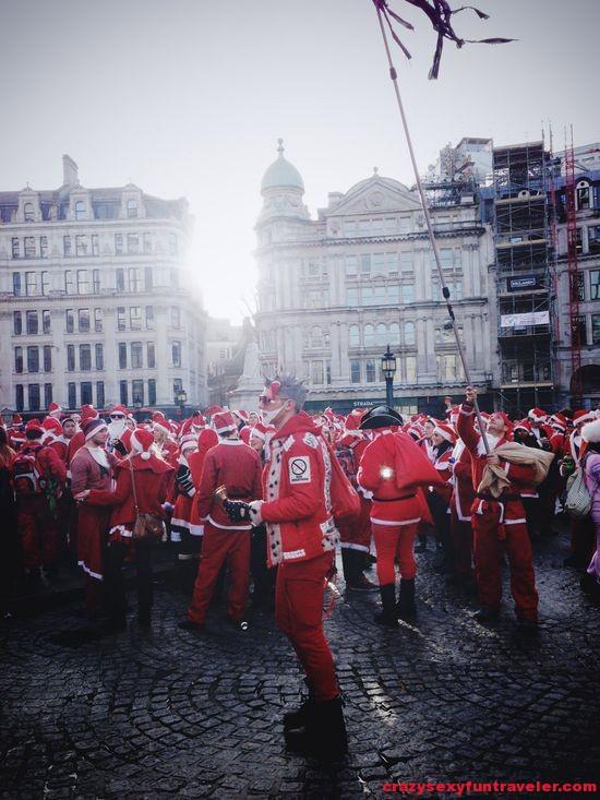 Santacon gathering of Santas in London