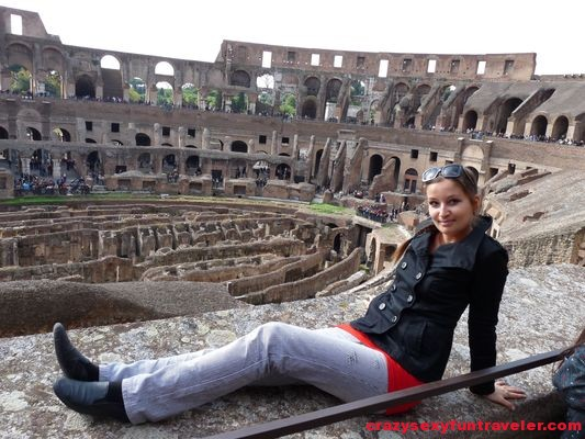 relaxing in Colosseum in Rome
