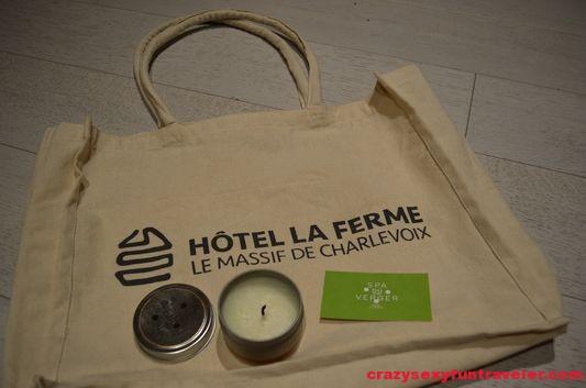 the bag with the candle I received