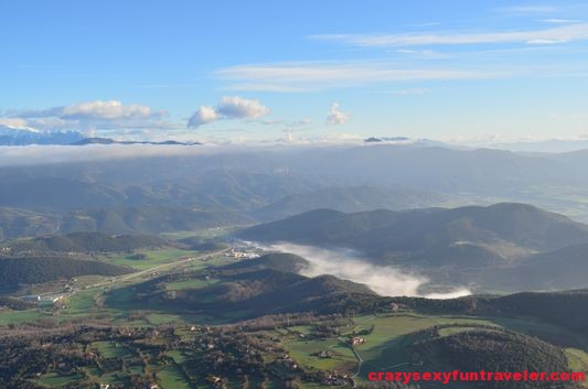 the first view of La Garrotxa volcanoes