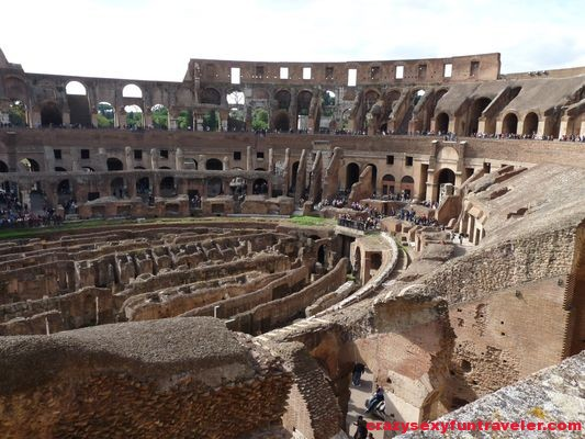 view of Colosseum in Rome