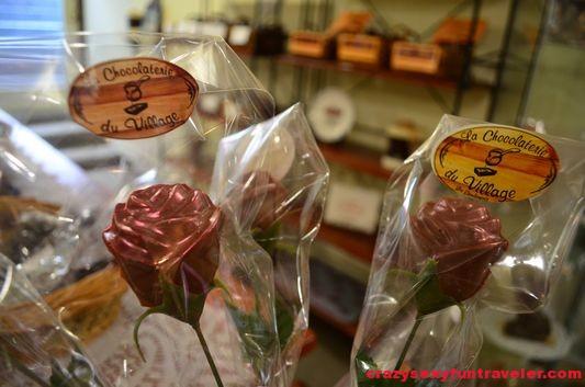 La Chocolaterie du Village chocolate flowers