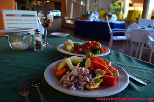 lunch at Cactus restaurant Posada Real