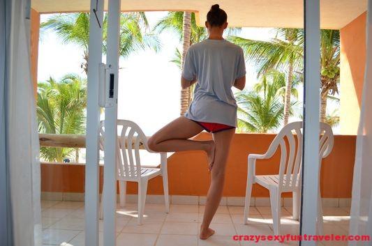 morning yoga at Posada Real in San Jose del Cabo