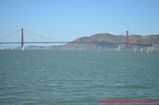 my frist glimpse of the Golden Gate Bridge from Bay Adventure Cruise