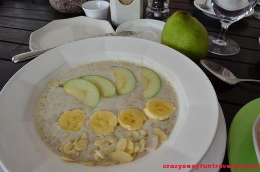 oat meal breakfast at Montpelier plantation