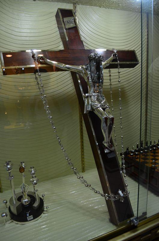 silver Jesus cross D'Argenta Taxco