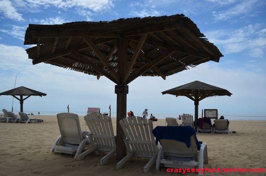 sun beds at Posada Real in San Jose del Cabo