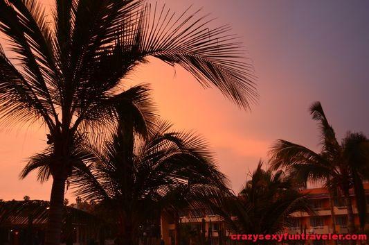 sunset seen from my Posada Real balcony