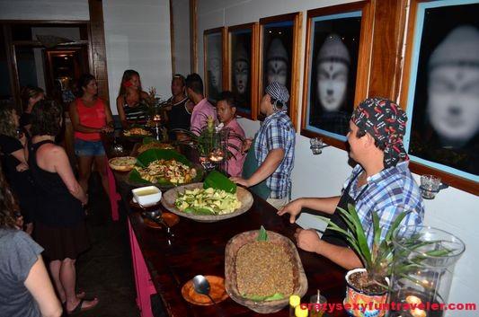 Blue Osa dinner gathering
