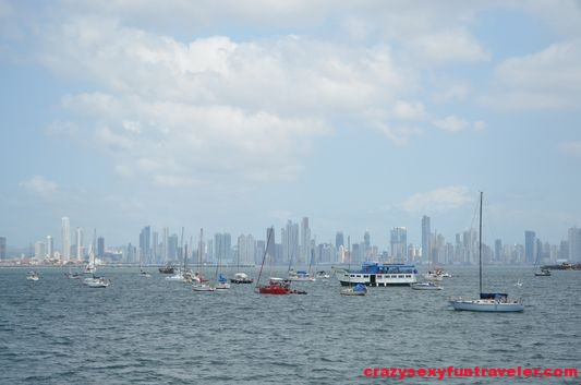 Panama City skyline with many banks