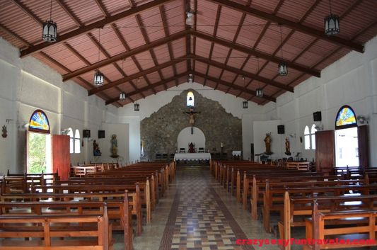 inside the church in El Valle de Anton