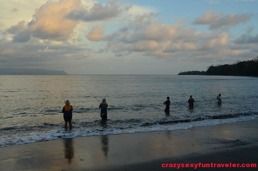 locals fishing Osa Peninsula