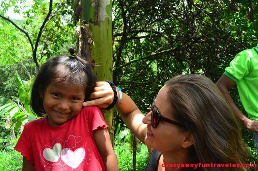 a Bribri girl in Talamanca