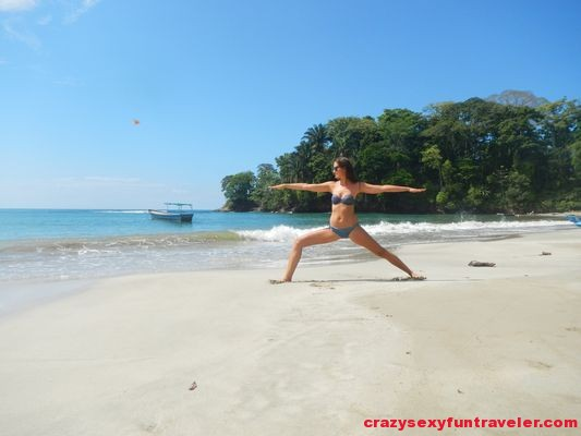 crazy sexy fun traveler practicing yoga in Costa Rica (2)