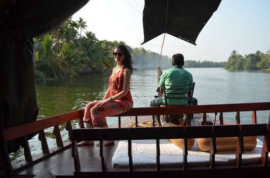 Kerala Backwaters houseboat from Kollam to Alleppey Lake & Lagoons (103)