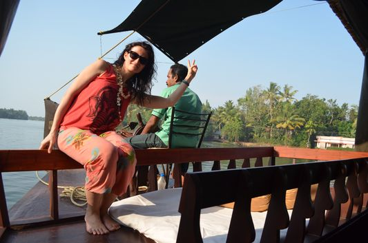 Kerala Backwaters houseboat from Kollam to Alleppey Lake & Lagoons (105)