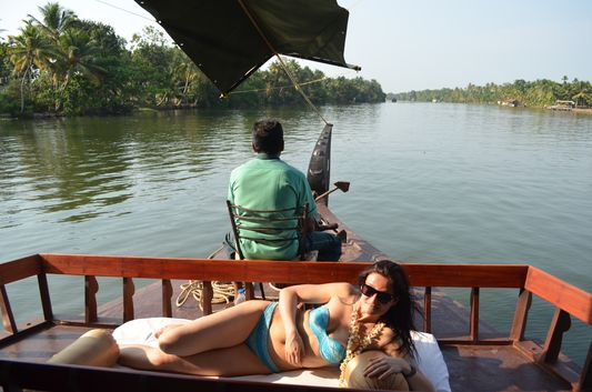 Kerala Backwaters houseboat from Kollam to Alleppey Lake & Lagoons (106)