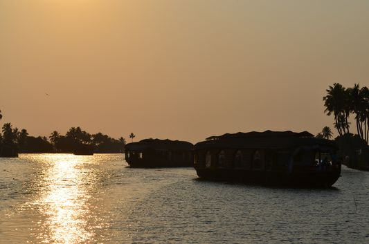 Kerala Backwaters houseboat from Kollam to Alleppey Lake & Lagoons (147)