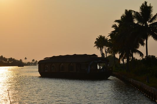 Kerala Backwaters houseboat from Kollam to Alleppey Lake & Lagoons (95)