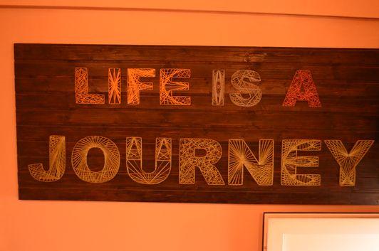 Journey Pub Bucharest Romania - Life is a journey motto