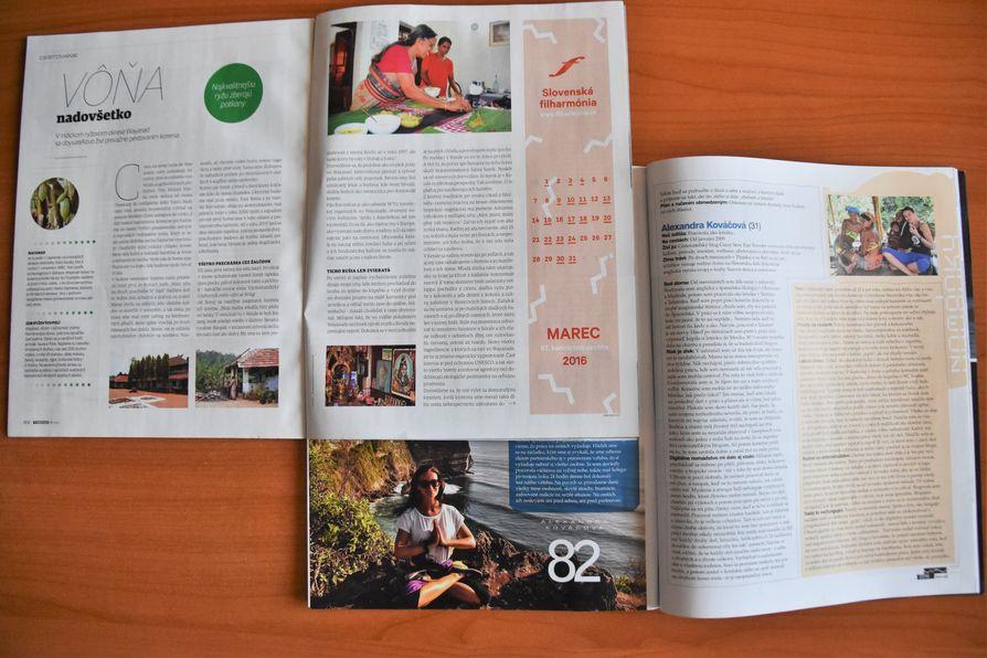 Alexandra Kovacova Slovak magazines articles