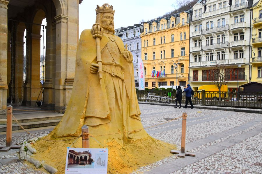 things-to-do-in-karlovy-vary-czech-republic-sand-statue-of-charles-iv-111