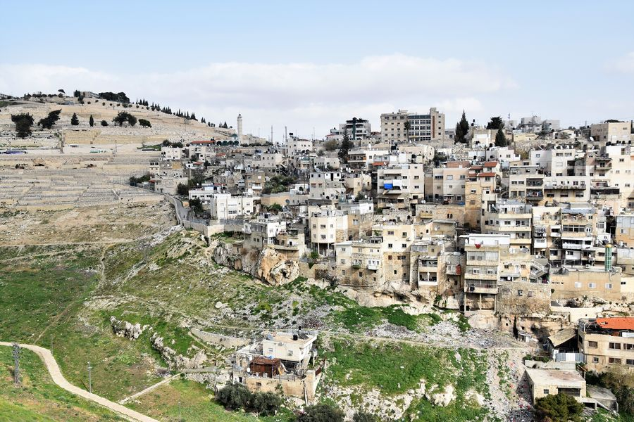 Silwan seen from the City of David Jerusalem