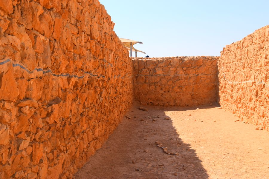Excavated storage room