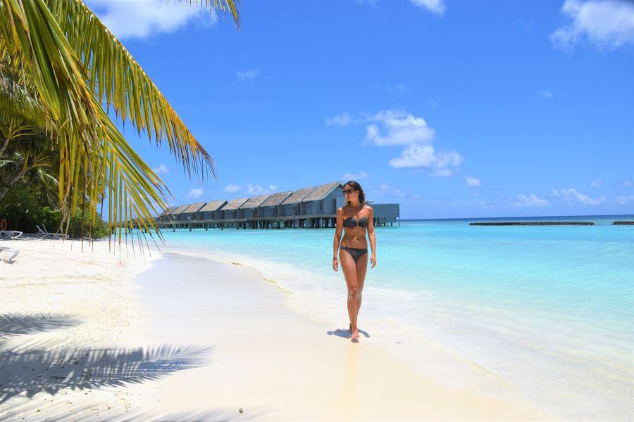 At Kuramathi resort in Maldives