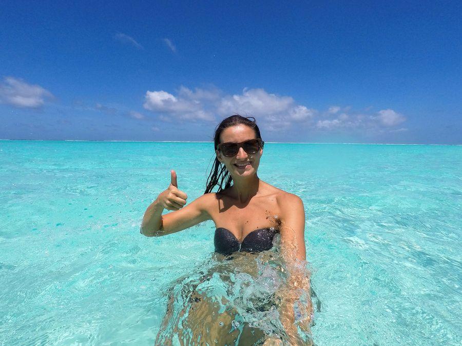 Thoddoo Maldives bikini beach