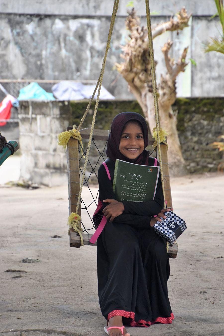 a Muslim Maldivian girl