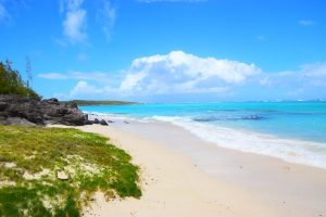 Secluded beach on Rodrigues island