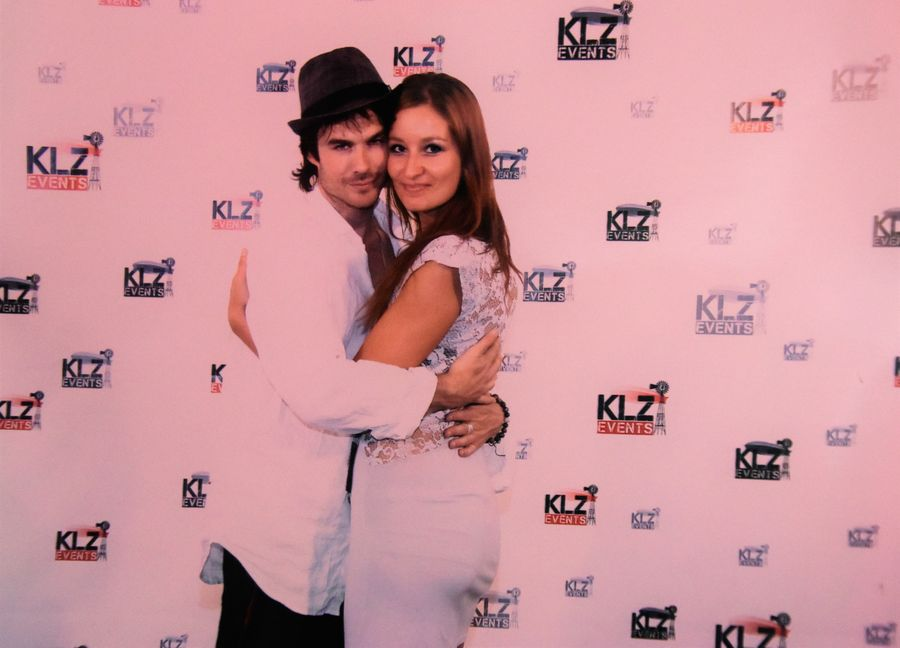 with Ian Somerhalder in Barcelona